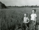 Bowman brothers in a soil bank field