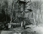 Firetower under construction