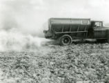 Spreading ground limestone as fertilizer