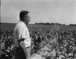 Mr. Clement inspects stripcropping system