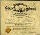 Middle Tennessee State Normal School diploma