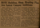 ROTC building, heating plant are latest campus additions