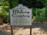 Midway Cemetery sign