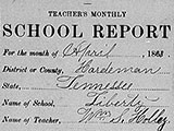 Liberty school: Teacher's monthly school report, April 1868