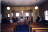 Craigs Chapel AME Zion Church: interior with pulpit