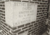 Bethel Baptist Church: cornerstone