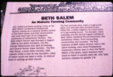 Beth Salem Presbyterian Church: interpretive panel