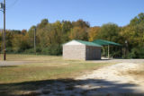 Montgomery High School: pavilion and restroom facilities near the athletic fields