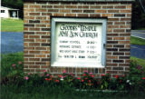 Christ Temple AME Zion Church: sign