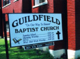 Guildfield Missionary Baptist Church: exterior sign