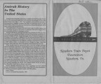 "Newbern Illinois Central Depot: newspaper ""All aboard amtrak"""