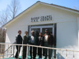 Barrs Chapel CME church: entrance with church members
