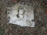 Free Hills Cemetery: tombstone fragment