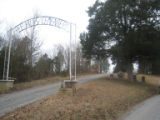 Free Hills Cemetery: entrance and tombstones