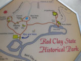 Red Clay State Historic Park: map