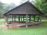 Red Clay State Historic Park: Council meeting house replica