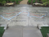 Blythe Ferry: Trail of Tears map at Cherokee Removal Memorial Park