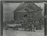 First Baptist Church East Nashville: congregation in front of old First Baptist Church