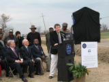 Holly Ridge Cemetery: Bill McPherson, Chair of Blues Commission at unveiling of historic marker