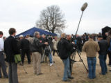 Holly Ridge Cemetery: media coverage at the event