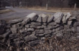 Alexandria Cemeteries Historic District: drystack limestone wall