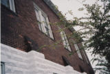 Sardis Baptist Church: detail of stone and brick