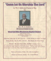 West End Hills Missionary Baptist Church: Pastoral Day program