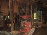 Readyville Mill: mill interior with grinder and hoppers