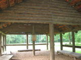 Red Clay State Historic Park: interior of Council House replica