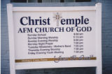 Old Metropolitan Christian Methodist Episcopal Church: sign