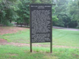 Red Clay State Historic Park: council grounds historic marker
