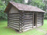 Red Clay State Historic Park: cabin replica