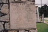 St. Luke African Methodist Episcopal Church: cornerstone