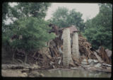 Brown's Mill: riverbank view of collapsed building