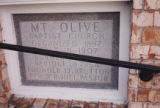 Mt. Olive MB: cornerstone
