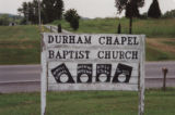 Durham's Chapel School: church sign
