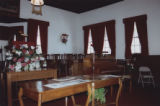 Durham's Chapel School: pulpit and choir area