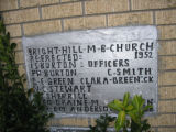 Bright Hill Missionary Baptist Church: plaque 2