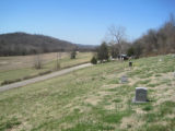 Indian Creek Missionary Baptist Church: view from cemetery