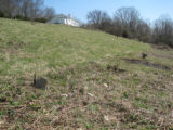 Indian Creek Missionary Baptist Church: graves behind the church