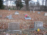 Canaan Baptist Church: cemetery with McDaniel headstones