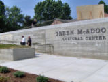 Green McAdoo School: inscription on museum wall