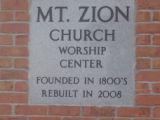 Mt. Zion CME: cornerstone