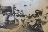 Mt. Zion School: 1953 interior