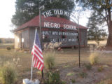 Mt. Zion School: close up of sign
