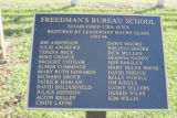 Rippavilla: Freedman's Bureau School plaque