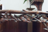 Grace Episcopal Church: detail of handcarved wooden rail along the altar