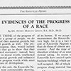 Evidences of the Progress of a Race