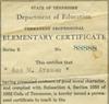 Elementary Certificate for Ada M. Ateman