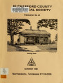 Rutherford County Historical Society publication no. 23